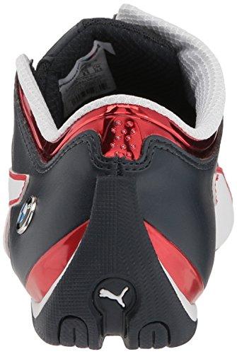 PUMA Men s BMW MS Future Cat MU Walking Shoe  Team Blue-High Risk Red-Puma White  4 M US
