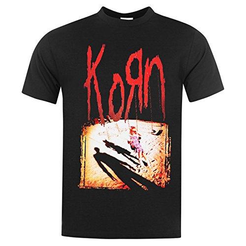 Official Herren Korn T Shirt Rundhals Kurzarm Baumwolle Print Motiv Freizeit Korn Large -