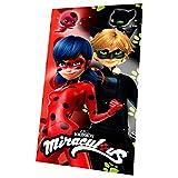 Miraculous Geschichten von Ladybug und Cat Noir LB17000 Fleece Decke, Polardecke, Kinderbettausstattung, 150 Zentimeter, Mehrfarbig
