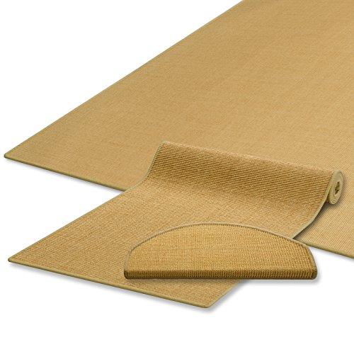 casa pura Sisal Teppich/Läufer | Natur | Naturfaser | Qualitätsprodukt aus Deutschland | kombinierbar mit Stufenmatten | 19 Breiten und 18 Längen (80x500 cm)