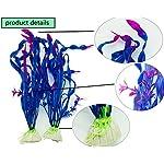 PANYTOW 5 Pieces Artificial Green Plant Grass Water plants for Fish Tank Aquarium Decor Ornament Decoration Plastic… 7