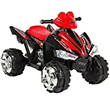 kalco Toys UK kalco _ 9917 _ BLK New Kinder 'S ELECTRIC Ride On Quad Bike, schwarz/rot