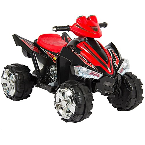 Kalco TOYS UK 9917_BLK New Children's Electric Ride on Quad Bike, Black/Red