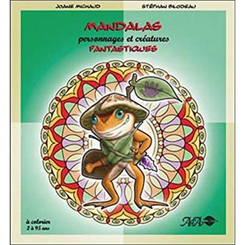Mandalas personnages et créatures fantastiques