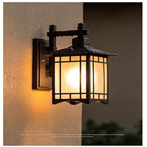 Deckenfluter Ist Anhänger ((Farbe: Schwarz) Größe: 32 * 13 cm Nachttischlampe Vintage Wasserdichte Außenleuchten Lampen Wandflur Gartentreppen Shop Innen- und Außenwandleuchten Hängende Beleuchtung)