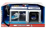 Dickie SOS Station Licht Sound Mikrofon Feuerwehr Polizei Auto Heli Spielzeug: Set: Polizei