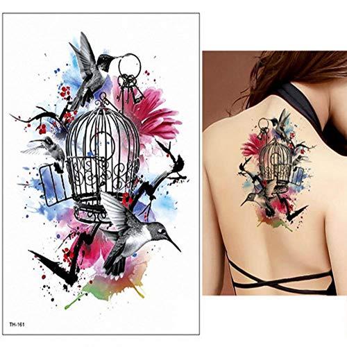 ZHAOSN Tattoo Aufkleber Floral Temporäre Tätowierung Weibliche Hand Tattoo Sticker Body Art Wasserdicht Arm Gefälschte Tattoo Papier (Temporäre Floral Tattoos)
