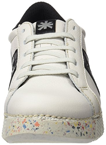 ART 1134 Memphis I Express, Ballerines Derby Mixte Adulte Blanc Cassé (Whiteblack)