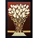 SAF Flower Painting (Synthetic, 25 cm x 35 cm x 2 cm, Special Effect Textured)