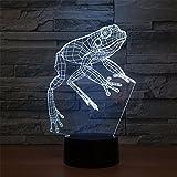 3D Lámpara Ilusión óptica LED Luz de la Noche 7 Cambio de Color Botón táctil USB y Control...