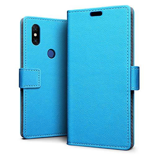 SLEO Funda para Xiaomi Mi Mix 3 Carcasa Libro de Cuero Ultra Delgado Billetera Cartera [Ranuras de Tarjeta,Soporte Plegable,Cierre Magnético] Case Flip Cover