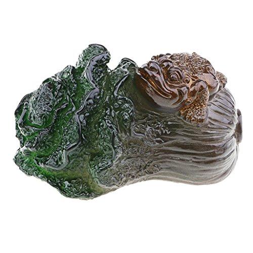 Homyl 1 Stück Kohl Form Tee Haustier Tischdekoration Haustier Tee Geschenke für Zu Hause Kunsthandwerk - Grün Fortune Chinakohl