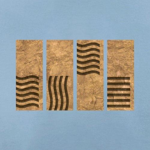 4 Element Stones - Herren T-Shirt - 13 Farben Himmelblau