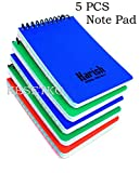 #2: KESETKO™ Pocket Notepads, Pack of 5 Pcs Small Writing Notepads, Multi colour