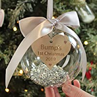 Personalised Bumps 1st Christmas Decoration Bauble