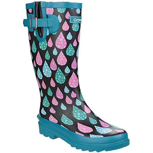 Cotswold Womens/Ladies Burghley Waterproof Pull on Wellington Boots Raindrop