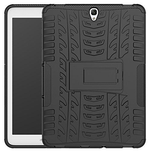 Samsung Galaxy Tab S3 9.7 Hülle, Asstar Ultra Slim Galaxy Tab S3 9.7 Smart Rugged Schutzhülle Cover Standfunktion Dual Layer Design für Galaxy Tab S3 Tablet (9,7 Zoll, SM-T820 T825), schwarz