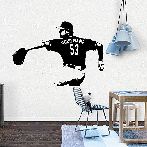 BFMBCH Neue baseball wandaufkleber kunst applique dekoration mode aufkleber dekorative vinyl tapete schlafzimmer dekoration wandaufkleber 43 cm X 61 cm