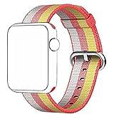 CICIYONER 1 PC Bunt Release Sport Royal Woven Nylon Armband Strap Band für Apple Watch 38mm, 6 Farben zu wählen (Rot, Apple Watch 38mm)