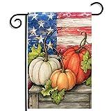 [Livraison Gratuite 7-12 jours] 30x45cm de halloween polyester citrouille usa drapeau décoration de jardin de vacances BML®