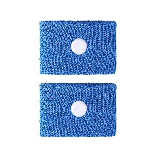 GAOXUQIANG 1 para Anti Übelkeit Handgelenkstütze Sport Sicherheit Armbänder Autokrankheit Seekrankheit Anti Bewegungskrankheit Handgelenkbänder,Blue -