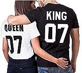 Partnerlook Couple T-Shirt Set King Queen pour Les Couples comme Un Cadeau en...