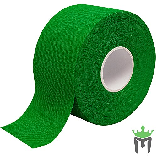 10 Yd Erste Hilfe (Meister Premium Athletic Zinkoxid Trainer 's Tape für Sport und Medical-13,7m x 3,8cm-verschiedene Farben, grün)