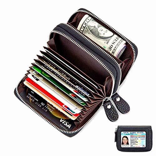 1b7c19b0e7f4c Amazon Tacohan. Kartenetui Kreditkarten etuis Leder Kreditkartenetui  Geldbörse für Damen und Herren Geldbeutel ...