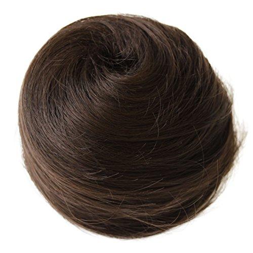 PRETTYSHOP Dutt Haarteil Zopf Haarknoten Hepburn-Dutt Haargummi Hochsteckfrisuren schokobraun #6 DC12