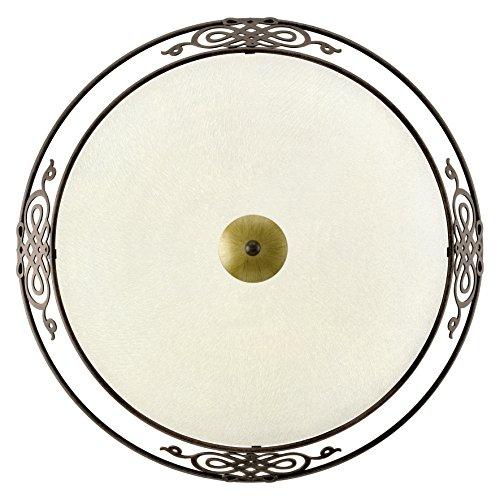 EGLO Wand-Deckenleuchte Modell MESTRE, Stahl, antik-braun, gold/Glas satiniert, HV 3xE27 maximal...