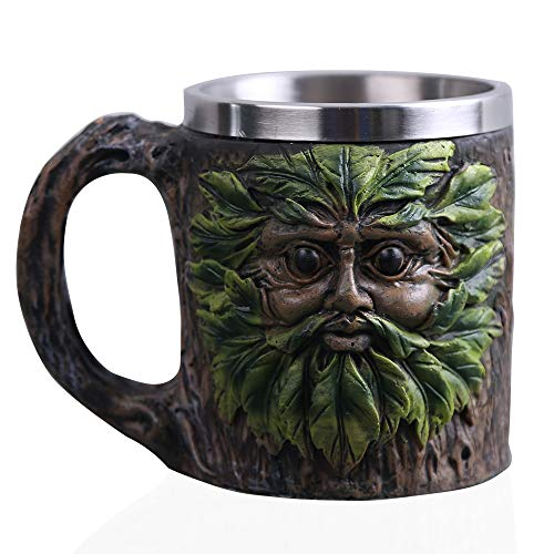 delbecher 15-Ounce Handgearbeiteter Coffee Becher Cup Fantasy Themed Art Gift Für Halloween Christmas Decoration Tree Man Gruß ()