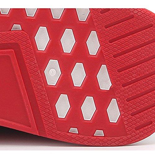 XIAOLIN Scarpe Da Uomo Jogging Scarpe Di Marea Inverno Scarpe Sportive ( Colore : Bianca , dimensioni : EU42/UK8.5/CN43 ) Nero