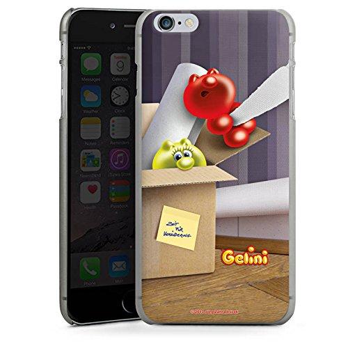 Apple iPhone X Silikon Hülle Case Schutzhülle Gelini Gummibärchen Karton Hard Case anthrazit-klar