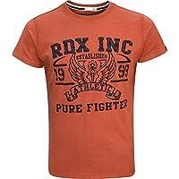 RDX Boxe Palestra Maglietta Crossfit MMA T Shirt Muscle Cotone Fitness Manica Corta Uomo Collo Rotondo - Adidas Stati Corto