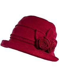 32954724f7b Ladies Wool Felt Cloche Hat Winter Hats for Women 1920s Vintage Fedora  Bowler Bucket Hat Packable