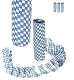 Luftschlangen Bayern Bavaria blau / weiß 3er Pack (a`10 Ringe)