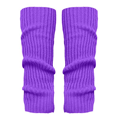 Stulpen Damen,1 Paar Mode Beinlinge Twist gestrickte Beinlinge Socken Boot Cover warme Leg Socken Teens Grobstrick Legwarmers(Lila)