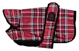 Outhwaite un-Lined Tartan Belly Dog Coat,