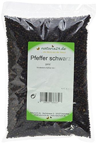 Naturix24 Pfeffer schwarz, 1er Pack (1 x 1 - Pfefferkörner Rote