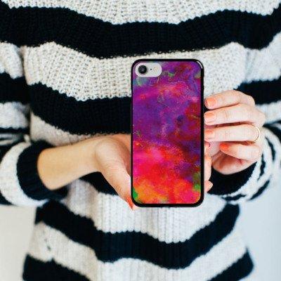 Apple iPhone X Silikon Hülle Case Schutzhülle Bunt Batik Tie Dye Muster Hard Case schwarz