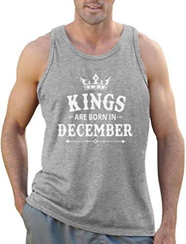 Königliches Geschenk für Dezember - Kings Tank Top Grau