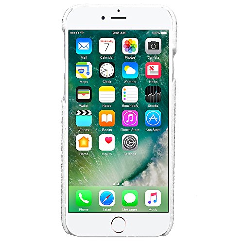 Voguecase® Pour Apple iPhone 7 4,7, Rigide Plastique Shell Housse Coque Étui Case Cover(Vine motif-Gris)de Gratuit stylet l'écran aléatoire universelle Argent