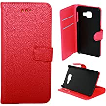 Lapinette - Etui Housse Coque Portefeuille Samsung Galaxy A5 2016 - Rouge