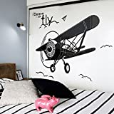 DWW-Wandsticker Wandaufkleber Acryl 3D Flugzeug Muster Kinderzimmer Hintergrund Schlafzimmer Dekorationen entfernt werden können, ohne abzufallen Wandsticker ( größe : Xl )