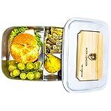 Edelstahl LunchBox Groß 1800ml von ALPIN LOACKER mit Schneidbrett - Brotdose, Bento Box | mit Fächern, Trennwand | Die große Brotbox zum Wandern, Reisen, Klettern.