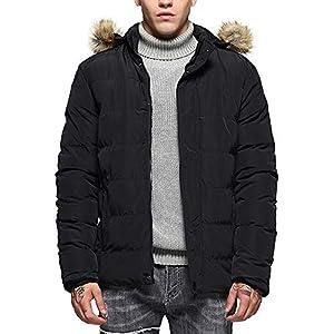 Oasics Herrenjacke Wintermode Hoodie Einfarbig Verdicken Warme Baumwolljacke M-3XL