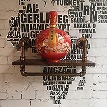 perchero de ropa Decoraciones de pared LOFT Do Antiguo estante de estantería de madera maciza creativa Retro tubo de hierro de pared de hierro perchero metal ( Color : Metalico )