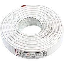 ROLLO 50mt CABLE COAXIAL ANTENA TV-SAT 6,8mm PVC COBRE/CCA