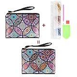 X-Baofu, A Forma di Farfalla Fai da Te Speciale Diamante Pittura Portafoglio del Cinturino delle Donne di Sacchetto Regalo di Natale Frizione Bagagli for Gita (Colore : G)