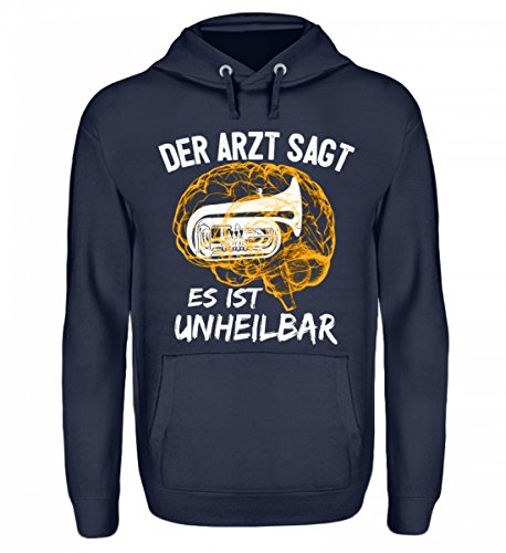 Hochwertiger Unisex Hoodie - Tuba Shirt · Musiker · Blasmusik · Musik · Musikinstrument · Musikverein · Hobby · lustig · Spruch · Pulli · Jacke · Hoodie · T-Shirt · Geschenk (Musikinstrumenten Mit Hoodie)